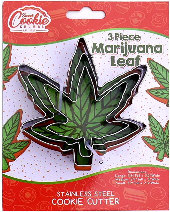 stoner gifts marijuana leaf cookie cutter