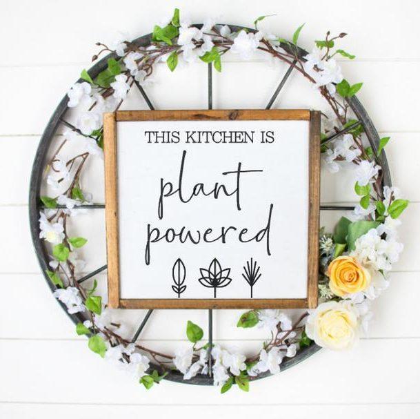 vegan gifts sign